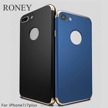 For iphone 6 3 in 1 phone case fashion electroplate shockproof pc cases for girls and boys with cheap price and high quality