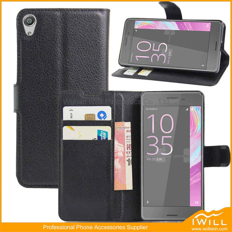 Popular Flip Leather Wallet Phone Case For Sony Xperia E5 , Mobile Phone Case For Sony Xperia E5 Cover