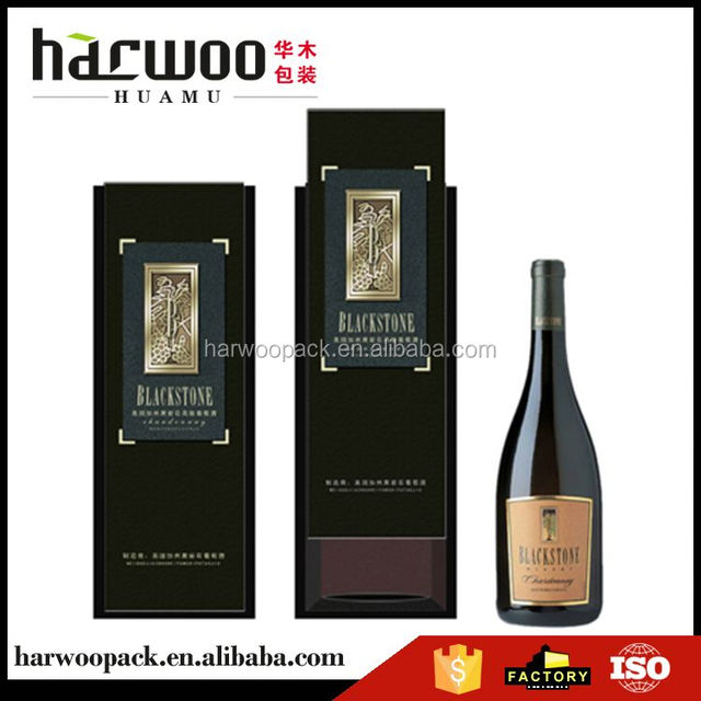 Factory Supply custom design clear gift packaging wine box manufacturer sale