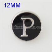 partnerbeads 12MM English alphabet N-Z metal snap button jewelry snap charm KB6674-S