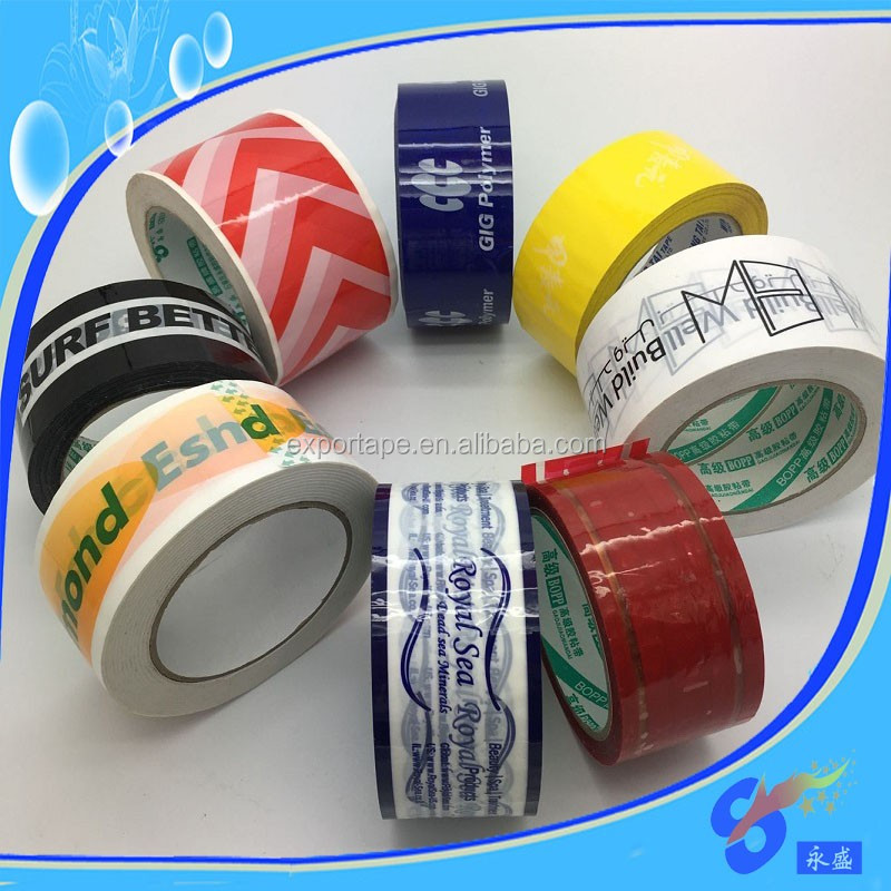 Custom personalised printed sticky packaging tape with logo