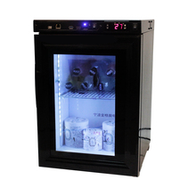 Mini Display Cooler with Glass door with transparent LCD Screen