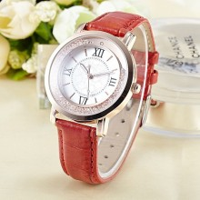 Good quality women fashionable leather watch japan movt watch manual