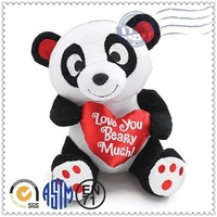 Wholesale and Popular manufacturer valentine panda stuffed toys