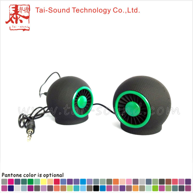 Black Mini Round Portable Speaker From China