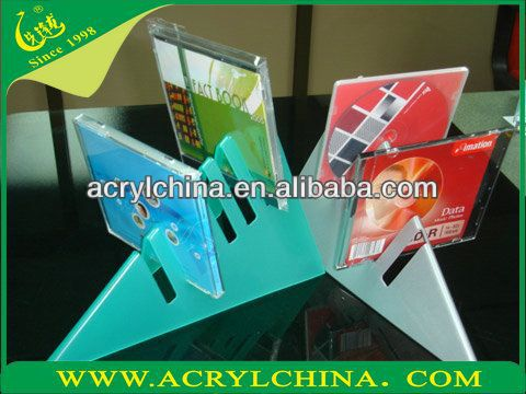 video disk PMMA display,cd acrilic display stand