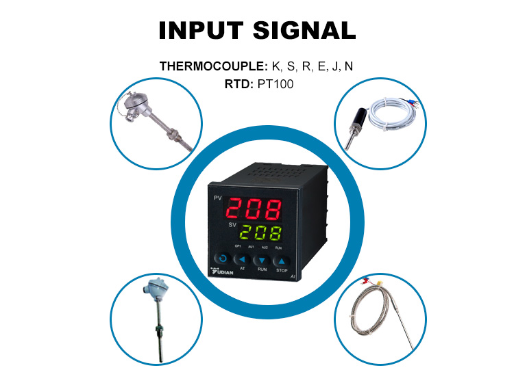 Yudian AI-208 PID Temperature Controller, Relay or SSR otuput.