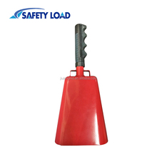 Red Cowbell With Plastic Handle