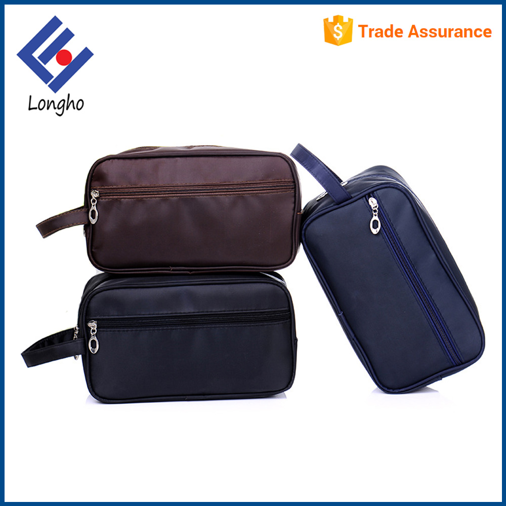 Promotional simple toiletry bag with logo custom popular zipper closure cosmetic travel bag