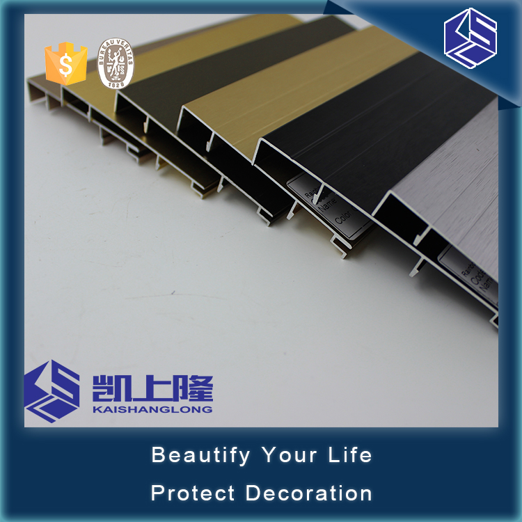 Wall connection 3000*30*1.6mm Aluminum Skirting baseboard Profile
