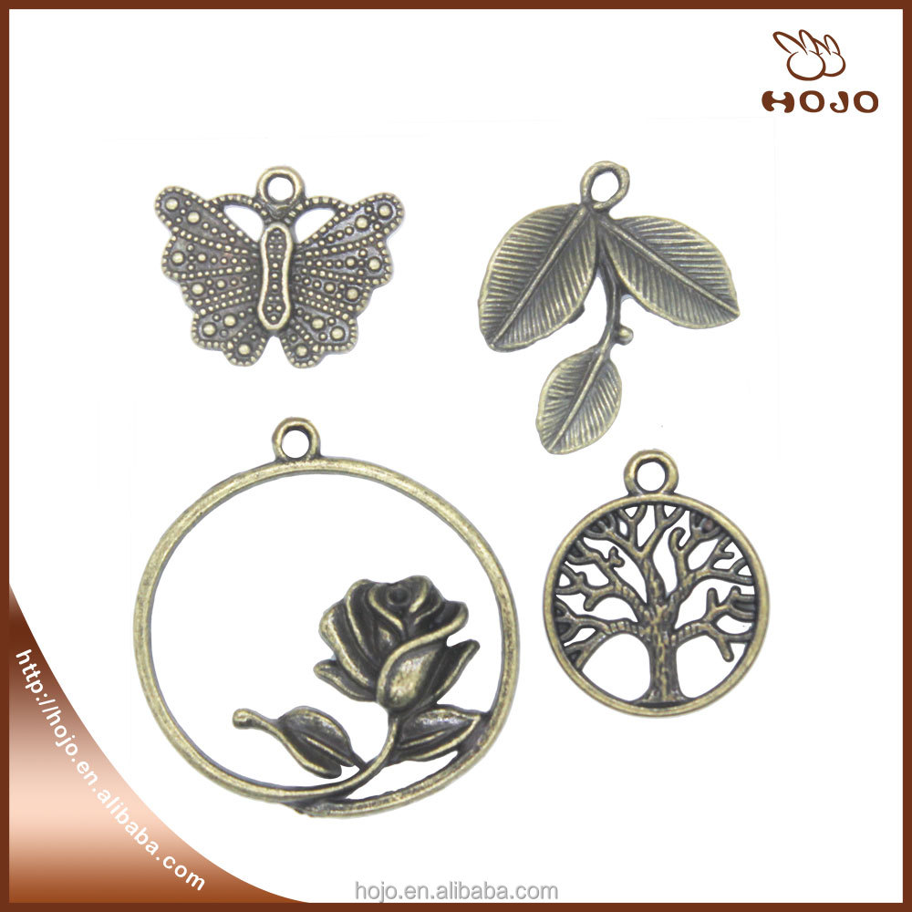 Metal Tibetan Antique brass life tree Charms,Vintage Bracelet Charms Pendant For Jewelry Making