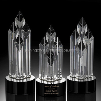 wholesale crystal trophies and Glass Trophy manufacturer in China