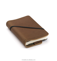 2017 New Launching Concise Style Full Grain Genuine Leather Notebook Cover With Marine- Grade Thread