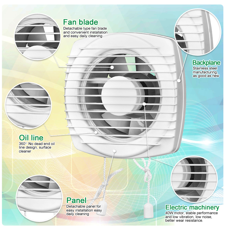 Bathroom Ventilation Fan (KHG10-W)