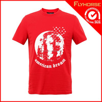 Magic design silk printing cotton t-shirt for promotion