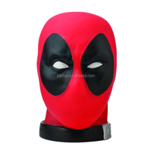Custom design bust figure plastic pvc coin bank, OEM make custom comic bust plastic coin box bank