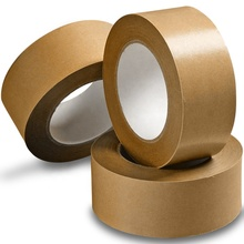 ecofriendly brown paper tape gummed kraft with self <strong>adhesive</strong> from dongguan factory