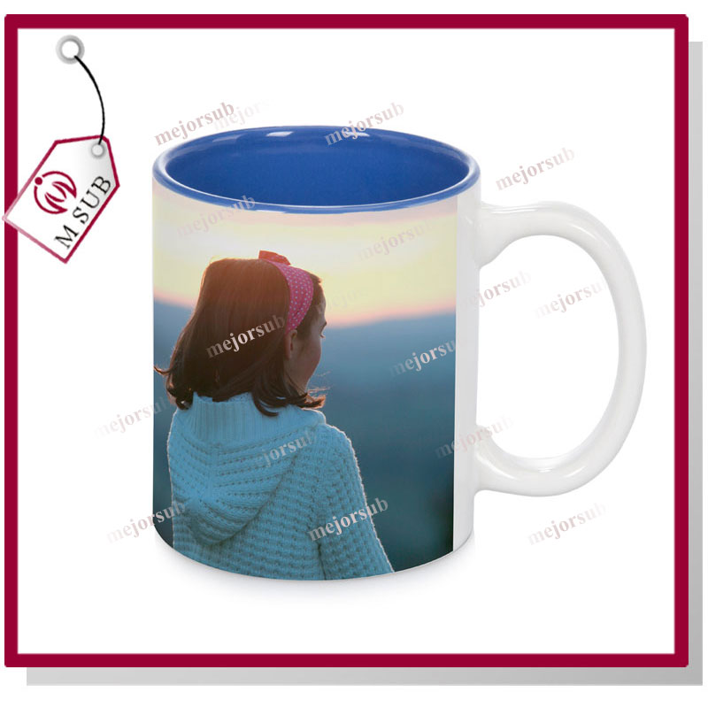 11oz red Eco-Friendly Feature Inner Colored Mug