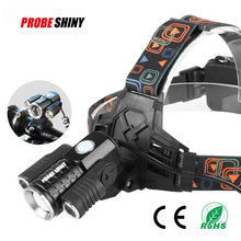 Headlight+bicycle light multifunction 2*5W+1* t6.300-800 lumen can remove multi-function headlamps with adjustable Angle