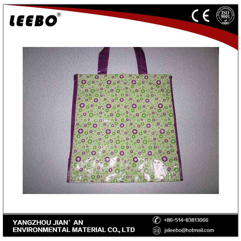 strong waterproof foldable shopping bag polyester