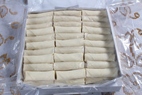 Frozen spring rolls food