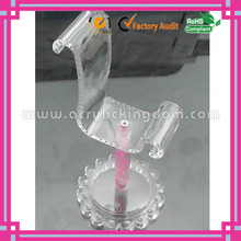 fashion flower shaped wholesale acrylic shoe display stand manufacturer