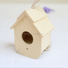 Household items elegant wooden bird cage mini pet carriers with rope