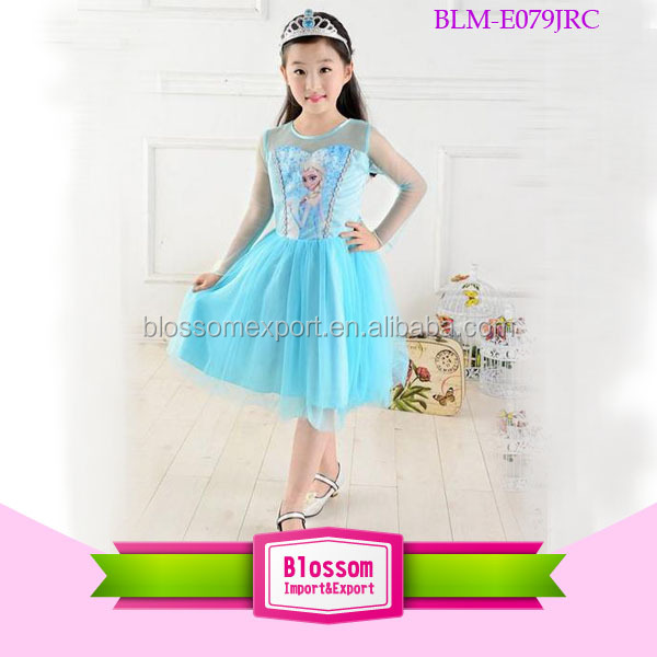 Hot sell ! very cut girl princess frozen elsa dress children