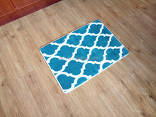 Lattice shape printing anti-slip memory foam bath mat/rug