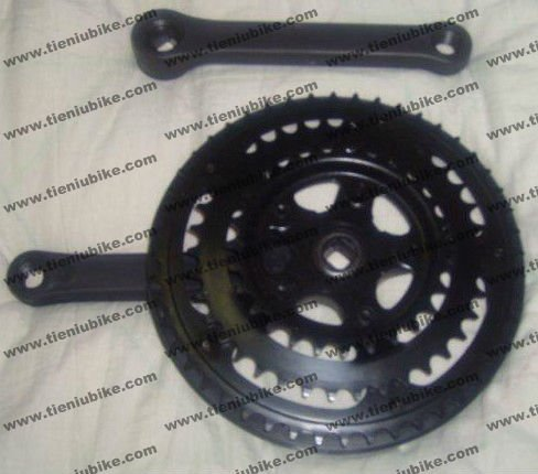 3 pieces MTB Bicycle chainwheel and crank