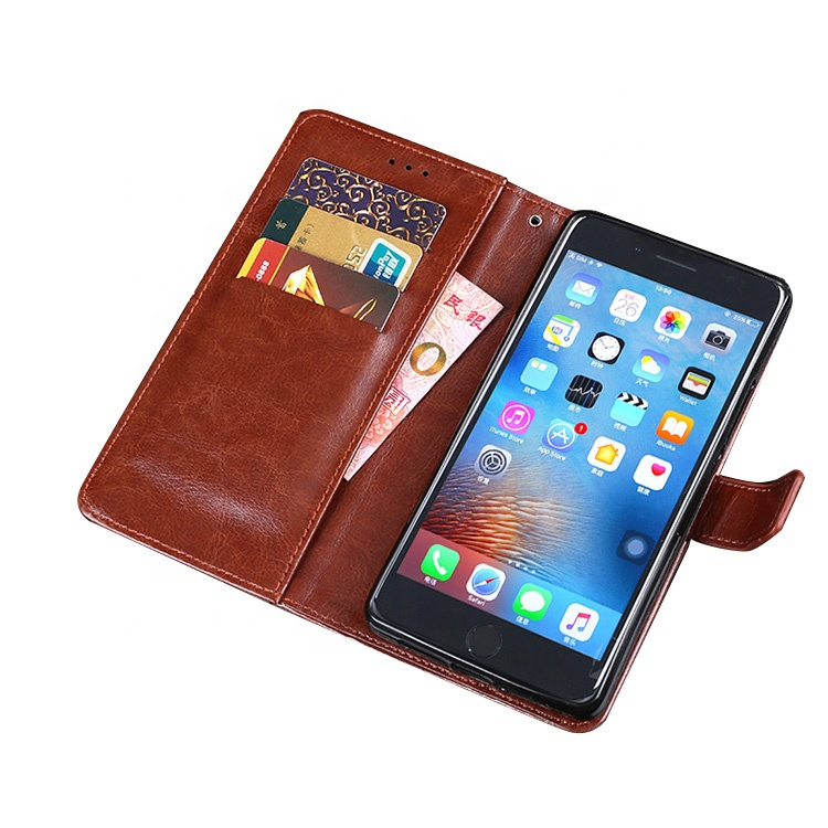 Genuine for iphone wallet leather flip accessories mobile phone case 5s 6 7 plus PX for iphone