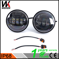 High quality 30W 4.5inch Daymaker Passing LED Fog Light for Harley black housing