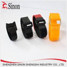 wholesale Plastic buckle hook and loop strap with silicone rubber belts