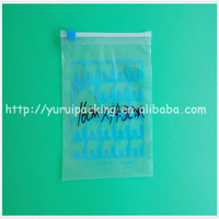 Clear plastic food packaging bag food storage bags self sealing packaging bags