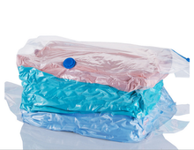 Clear Plastic Zippered Vacuum Storage cube Bag for folding clothes bedding