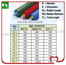 4 color printing machine spare parts rubber roller for man roland 700
