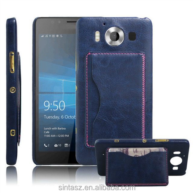 New arrival mobile Accessories PU leather wallet cell phone case for Lumia 950