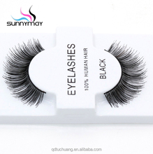Private label real hair lashes hair false eyelashes lovely realistically indonesia made human hair lashes
