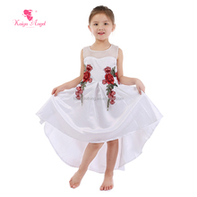 Wholesale Boutique Children Summer Rose Embroidery design Emoi New Fashion Kids <strong>Girl's</strong> Long Sleeves Princess <strong>Dress</strong>