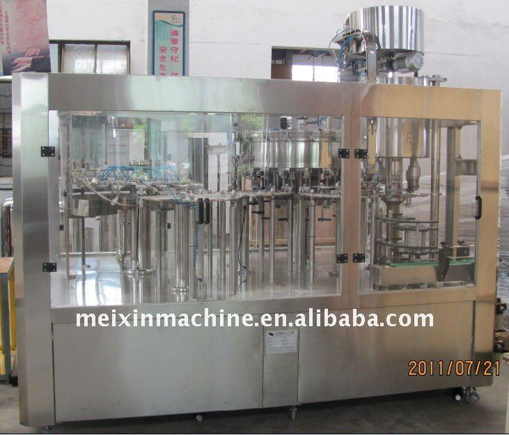 Monoblock 3-in-1 Set Aerated Beverage Filling Machinery