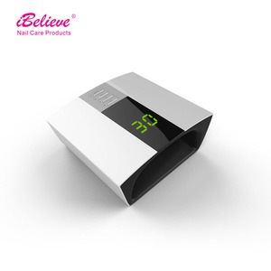 iBelieve gel light 60w uv lamp nail hand dryer for nails curing