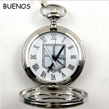 Vintage Classic Women Silver Cartoon Quartz Necklace Pocket Watches for Kids