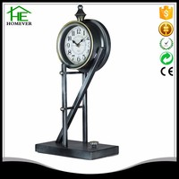 iron metal retro vintage floor stand clock for desk office