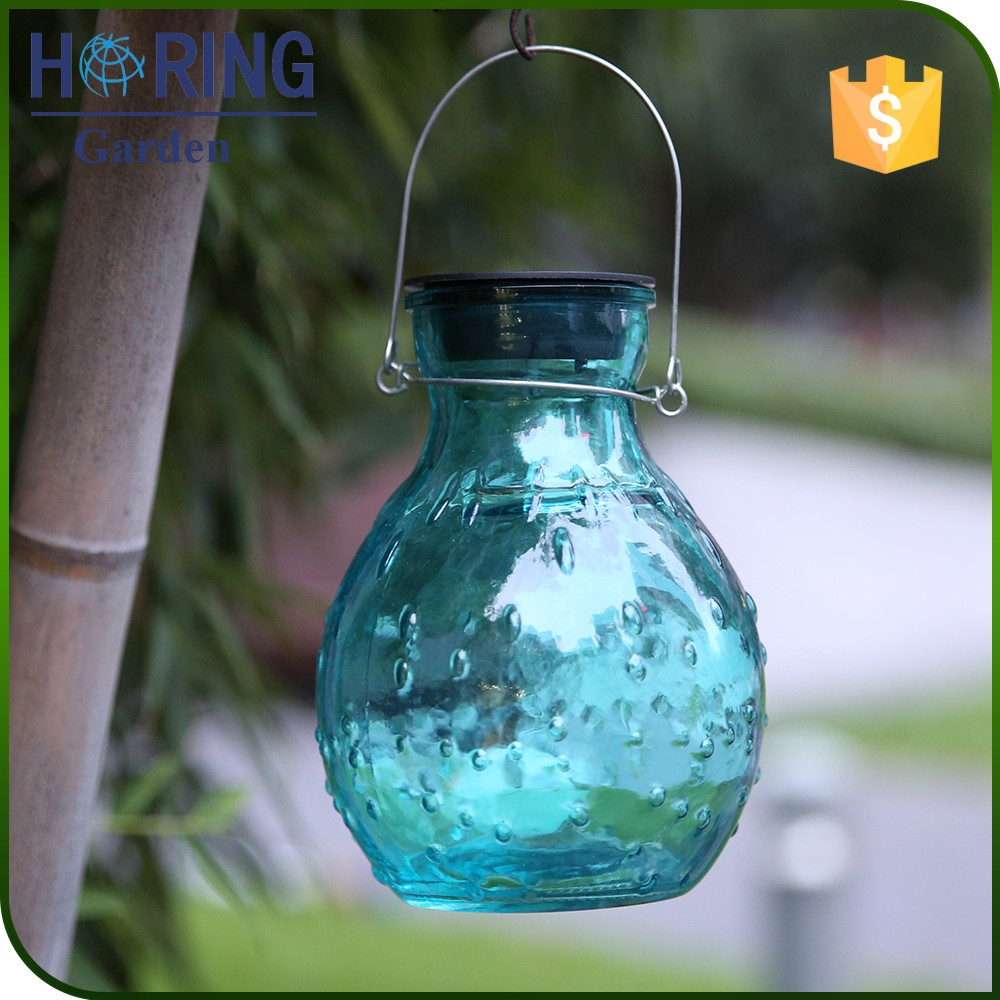 Hang decorations with LED CE ROHS Solar garden Light for festival celebrate glass bottle light hang solar light