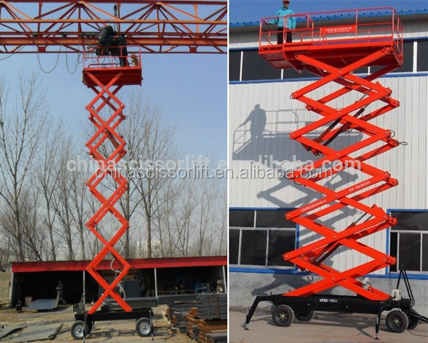 Mobile Vertical Hydraulic Scissor Lift/Hydraulic Lift Work Table