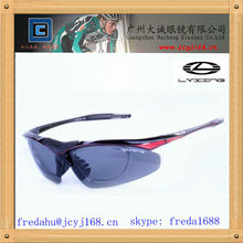 sport sunglasses with optical insert lens