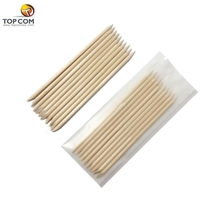 50pcs Nail Art Wood Stick Cuticle Pusher Remover for Nail Art Care Manicures