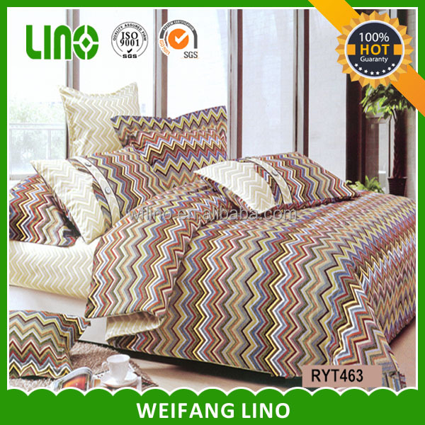 100% cotton printed 4 pc sheet sets/duvet covers printed photo/cute comforter bedding set