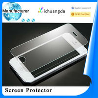 manufacturer high clear screen cover tempered glass for iphone 5/5s samsung galaxy s4/s5 Mobile phone accessory