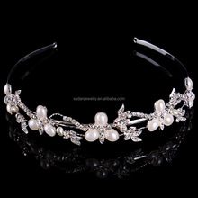 Wholesale Ballet Tiara and Rhinestone Pearl Crown for Sale Pageant Tiara Crown